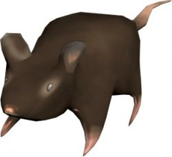 Unreal level models: Rat