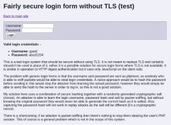 Log-in to websites without TLS/SSL